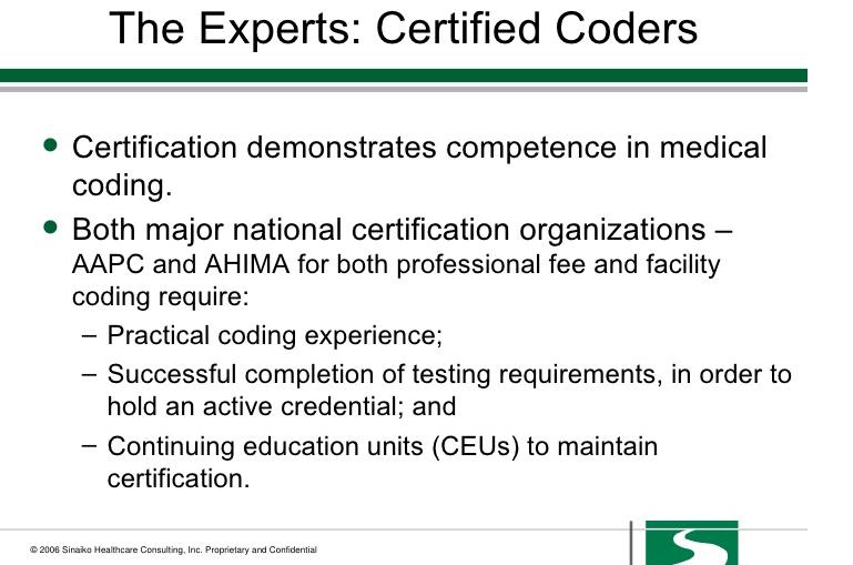 Medical Coding Experts List